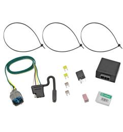 trailer wiring harness kit for 09 14 honda ridgeline 09 11 pilot all styles [ 1000 x 1000 Pixel ]