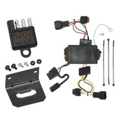 trailer wiring and bracket and light tester for 09 12 nissan cube all styles 4 flat harness  [ 1000 x 1000 Pixel ]