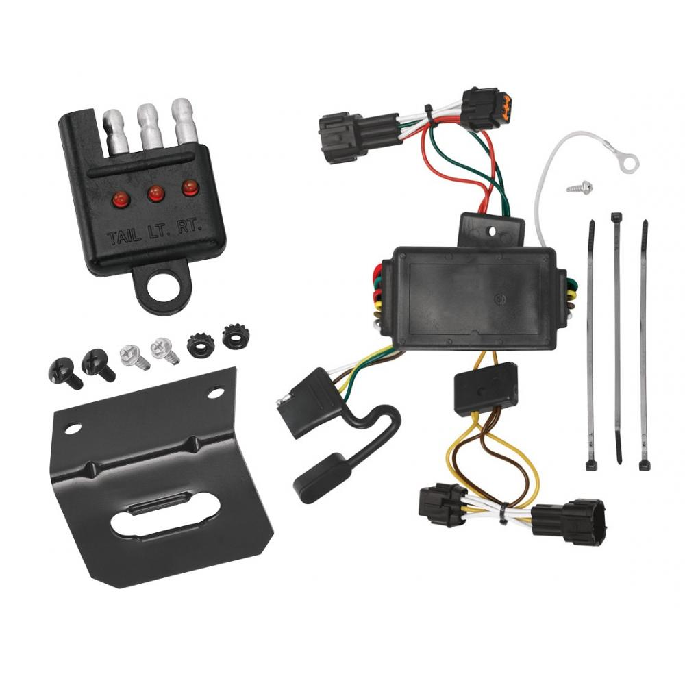 medium resolution of trailer wiring and bracket and light tester for 09 12 nissan cube all styles 4 flat harness