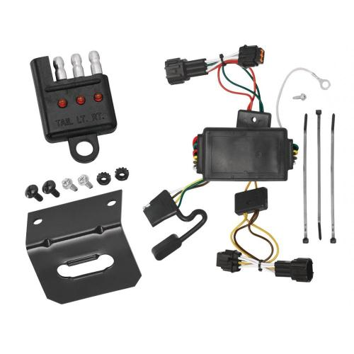 small resolution of trailer wiring and bracket and light tester for 09 12 nissan cube all styles 4 flat harness