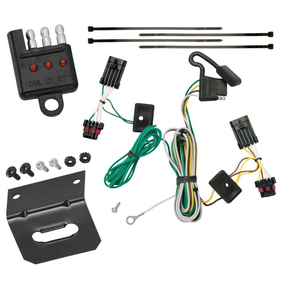 hight resolution of trailer wiring and bracket and light tester for 00 05 chevrolet impala all styles 4 flat harness