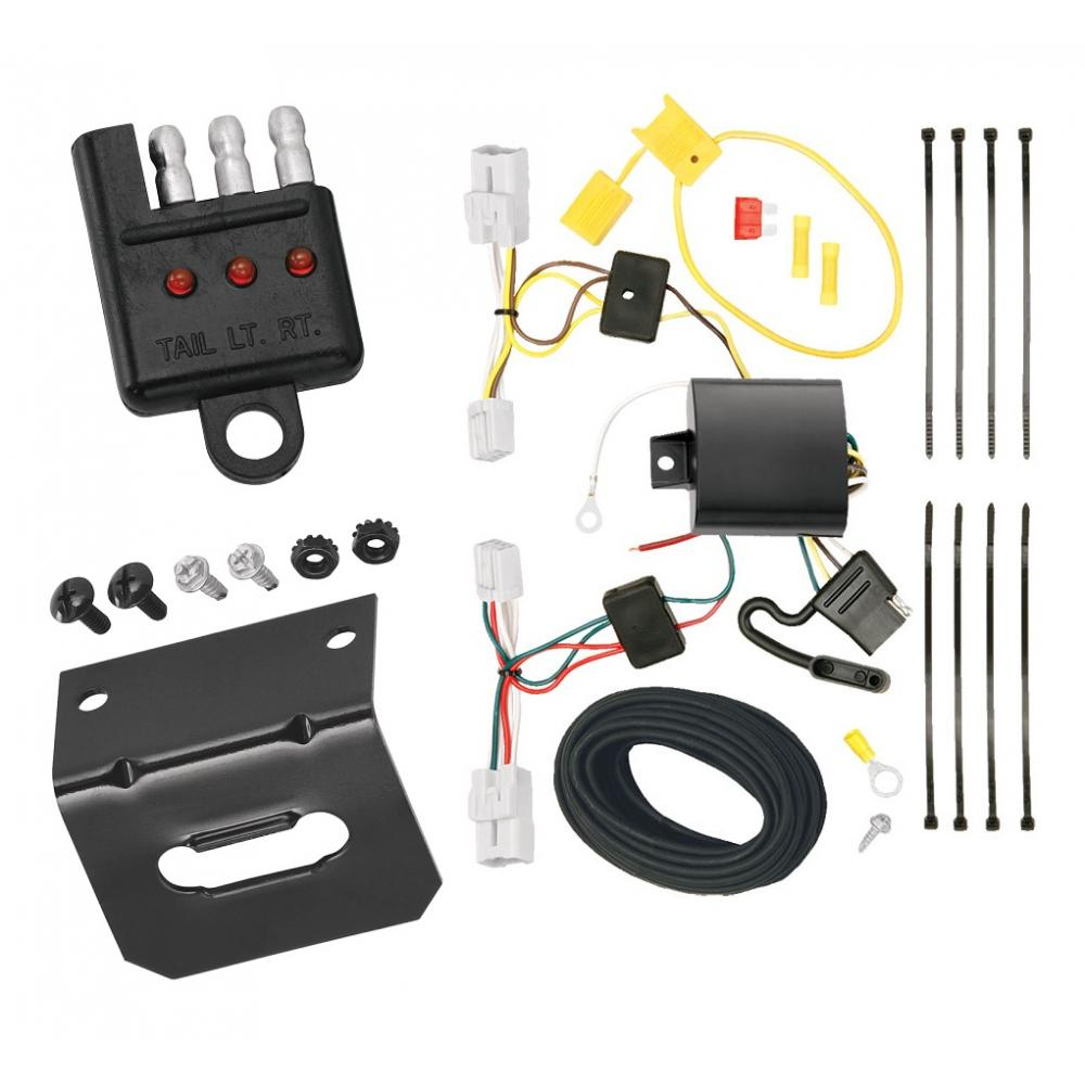 medium resolution of trailer wiring and bracket and light tester for 10 12 hyundai genesis 2 dr coupe 4 flat harness
