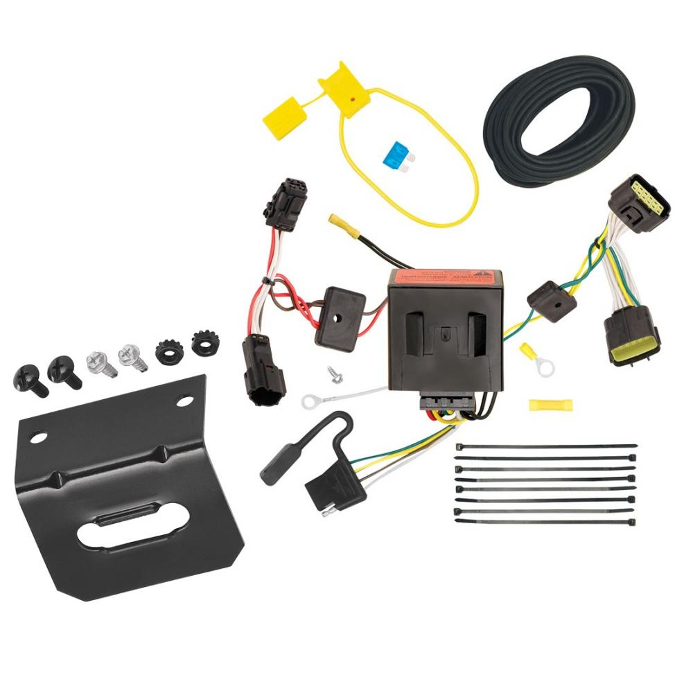 medium resolution of trailer wiring and bracket for 11 16 kia sportage all styles 4 flat harness plug play