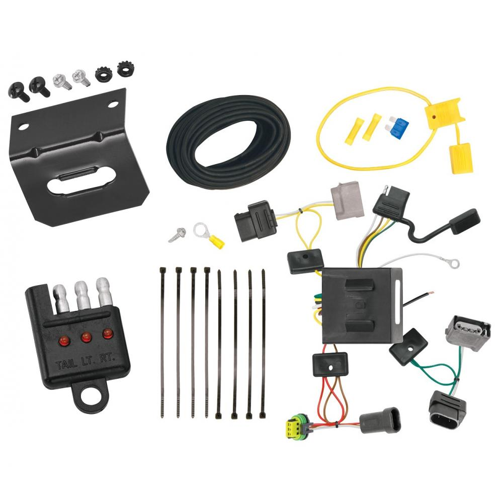 hight resolution of trailer wiring and bracket and light tester for 11 18 dodge journey w led taillights 4 flat harness plug play