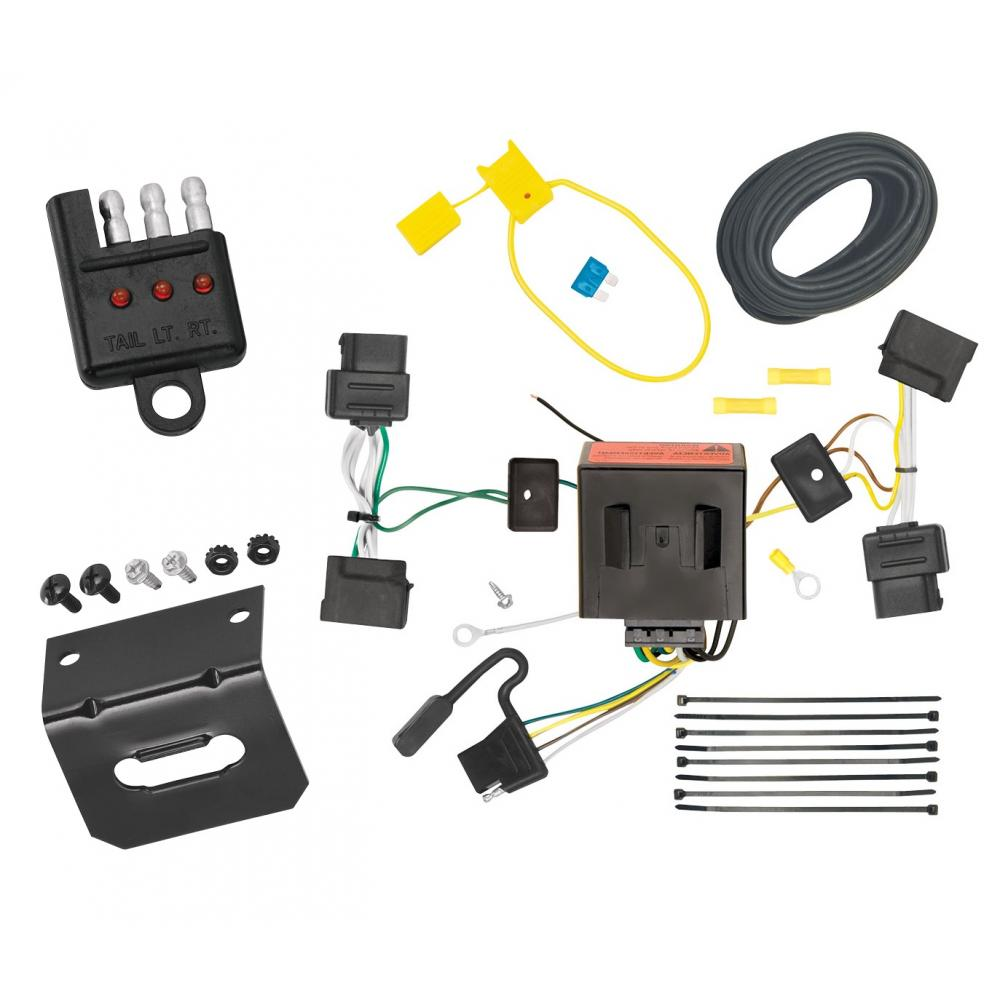 medium resolution of trailer wiring and bracket and light tester for 08 14 ford e 150 e 250 econoline