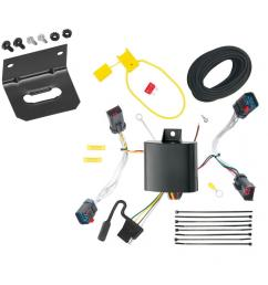trailer wiring and bracket for 11 14 chrysler 300 300c all styles 4 flat harness plug play [ 1000 x 1000 Pixel ]