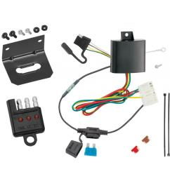 trailer wiring and bracket and light tester for 14 19 acura mdx all styles 4 flat harness  [ 1000 x 1000 Pixel ]