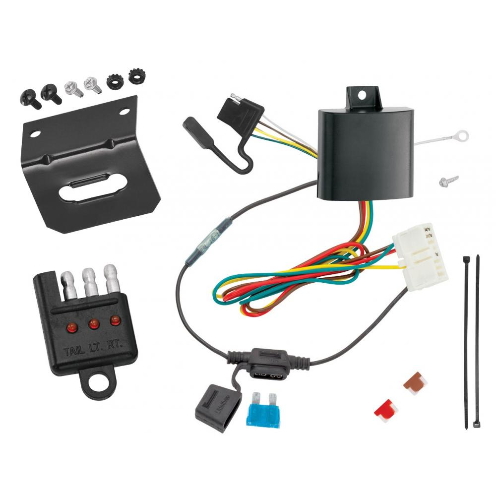 hight resolution of trailer wiring and bracket and light tester for 14 19 acura mdx all styles 4 flat harness