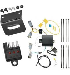 trailer wiring and bracket and light tester for 15 19 chrysler 300 all styles 4 flat  [ 1000 x 1000 Pixel ]