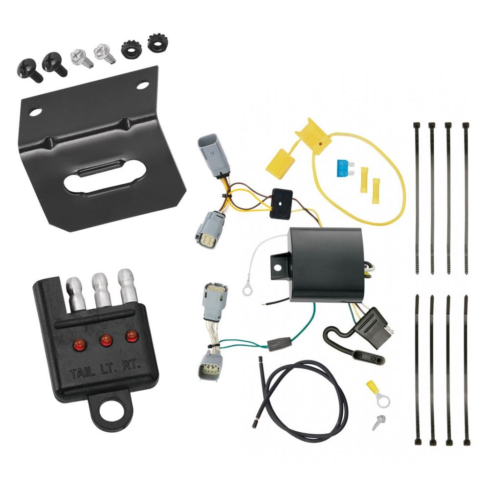 hight resolution of trailer wiring and bracket and light tester for 15 19 chrysler 300 all styles 4 flat