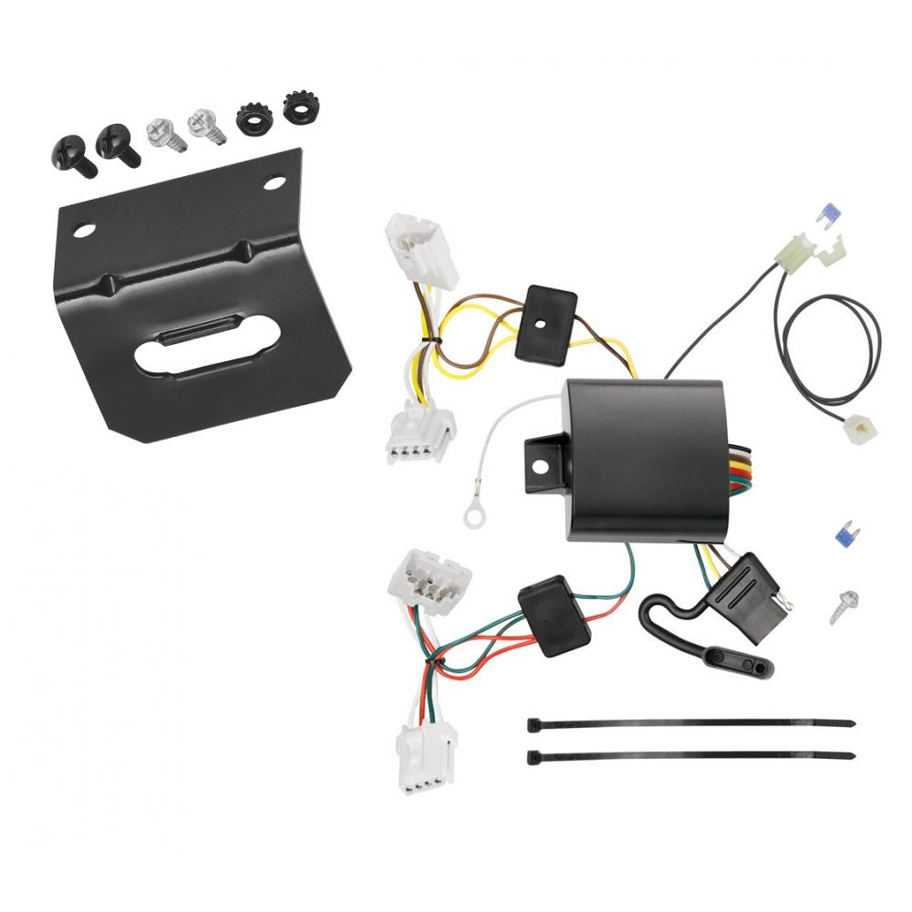 medium resolution of trailer wiring and bracket for 15 19 nissan murano except crosscabriolet 4 flat harness plug play