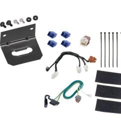 trailer wiring and bracket for 14 19 infiniti qx60 13 19 nissan pathfinder 4 flat harness  [ 1000 x 1000 Pixel ]