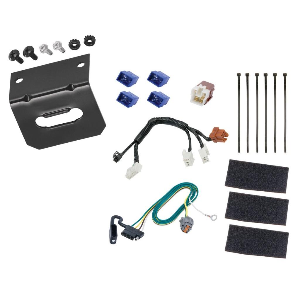 medium resolution of trailer wiring and bracket for 14 19 infiniti qx60 13 19 nissan pathfinder 4 flat harness