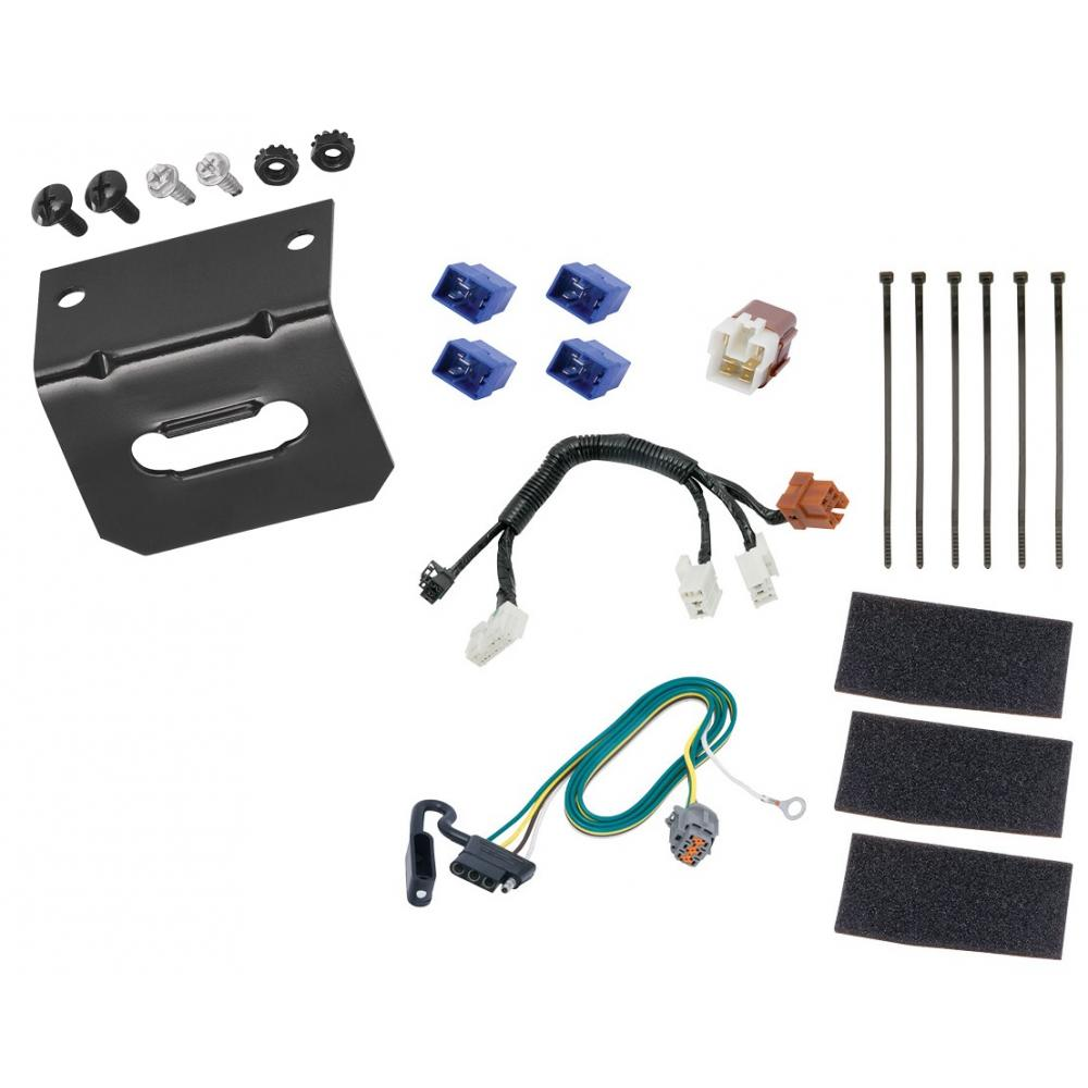 hight resolution of trailer wiring and bracket for 14 19 infiniti qx60 13 19 nissan pathfinder 4 flat harness