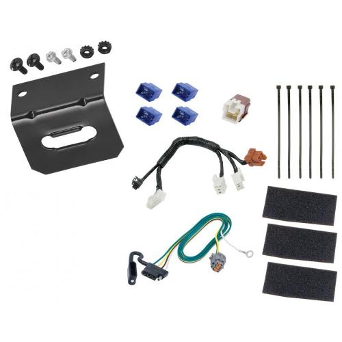 small resolution of trailer wiring and bracket for 14 19 infiniti qx60 13 19 nissan pathfinder 4 flat harness