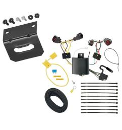 trailer wiring and bracket for 15 16 land rover discovery sport all styles 4 flat harness  [ 1000 x 1000 Pixel ]