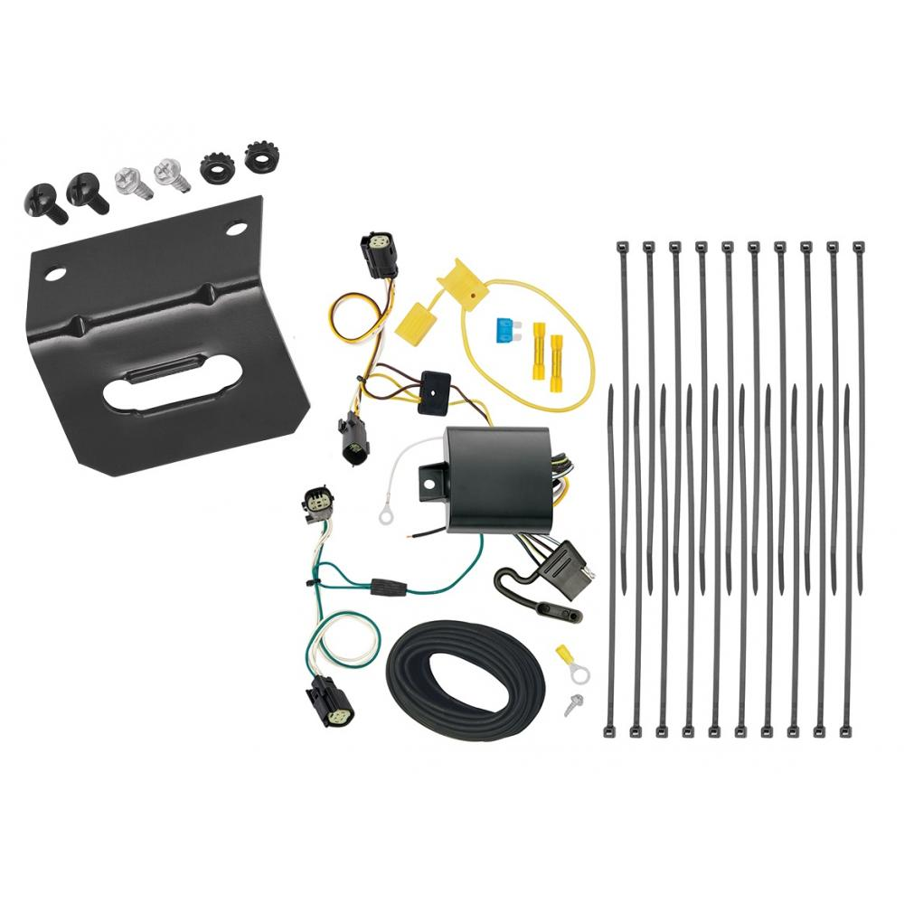 medium resolution of trailer wiring and bracket for 17 19 chrysler pacifica limited touring l plus 4 flat harness