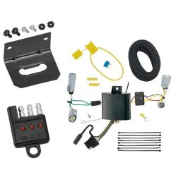 trailer wiring and bracket and light tester for 17 19 chrysler pacifica lx touring 4 flat  [ 1000 x 1000 Pixel ]