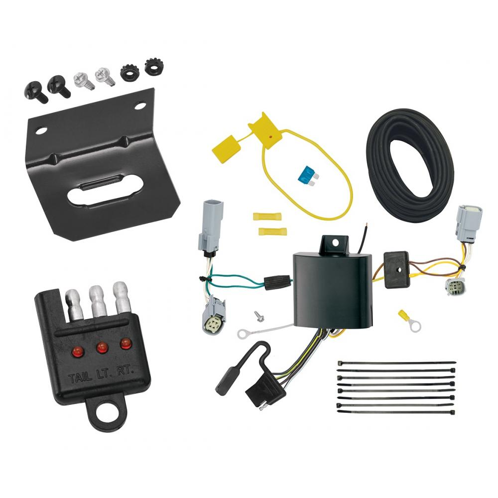 medium resolution of trailer wiring and bracket and light tester for 17 19 chrysler pacifica lx touring 4 flat