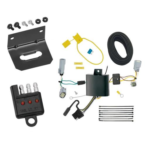 small resolution of trailer wiring and bracket and light tester for 17 19 chrysler pacifica lx touring 4 flat