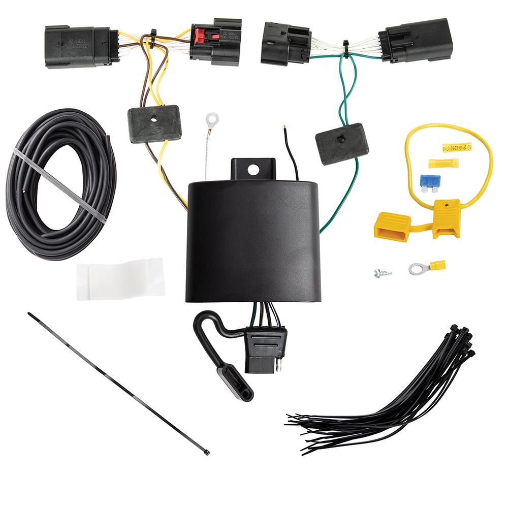 medium resolution of trailer wiring harness kit for 18 19 jeep wrangler jl new body style tekonsha wiring harness jeep