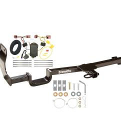 trailer tow hitch for 07 12 nissan versa hatchback tow receiver w wiring harness kit [ 1000 x 1000 Pixel ]