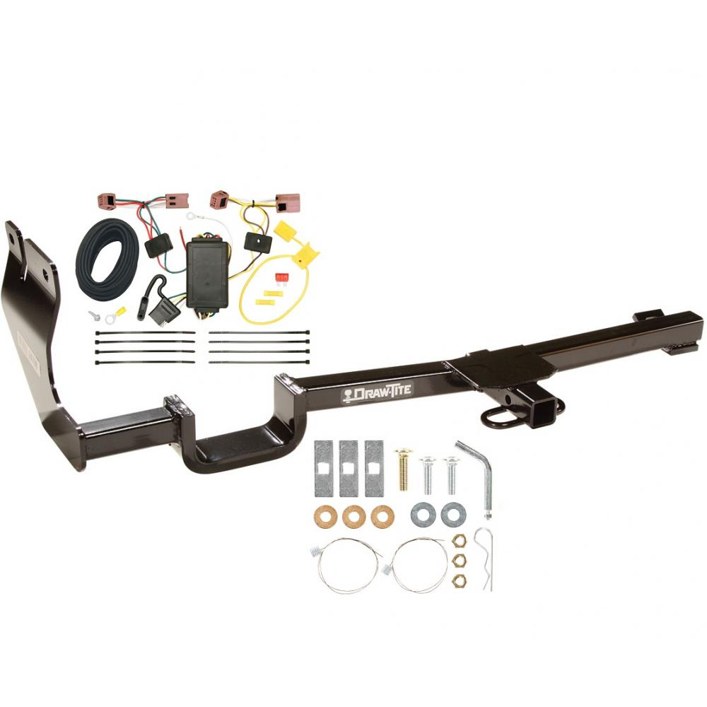 hight resolution of trailer tow hitch for 07 12 nissan versa hatchback tow receiver w wiring harness kit
