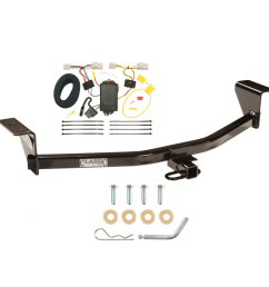 trailer tow hitch for 11 15 scion xb except release series trailer hitch tow receiver w wiring harness kit [ 1000 x 1000 Pixel ]