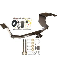 trailer hitch tow receiver w wiring harness kit for 11 13 ford fiesta hatchback [ 1000 x 1000 Pixel ]
