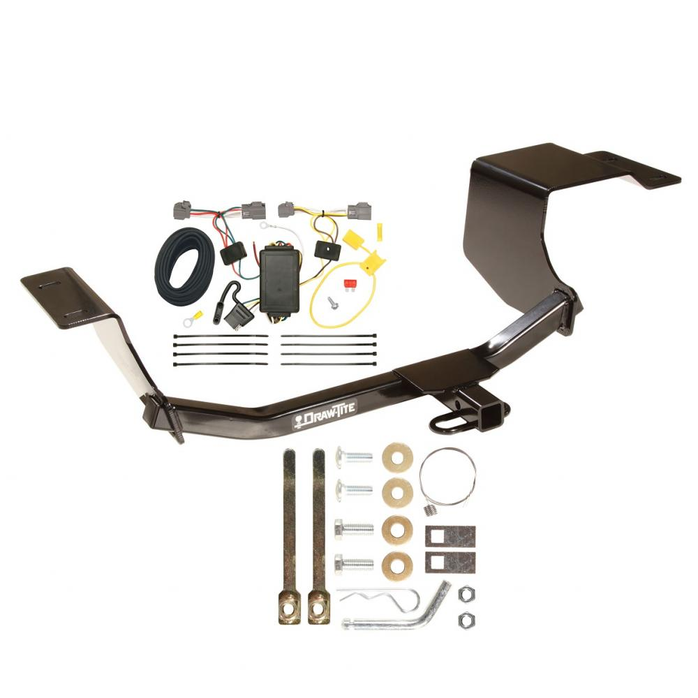 medium resolution of trailer hitch tow receiver w wiring harness kit for 11 13 ford fiesta hatchback