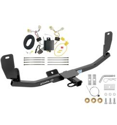 trailer tow hitch for 13 17 hyundai elantra gt except korean manufactured vehicles trailer hitch tow receiver w wiring harness kit [ 1000 x 1000 Pixel ]