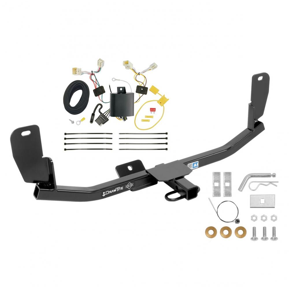 hight resolution of trailer tow hitch for 13 17 hyundai elantra gt except korean manufactured vehicles trailer hitch tow receiver w wiring harness kit