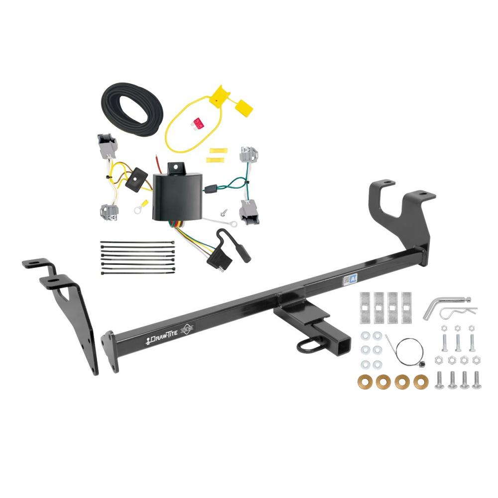 medium resolution of trailer tow hitch for 15 17 chrysler 200 sedan trailer hitch tow receiver w wiring harness kit