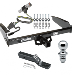 trailer tow hitch for 87 96 ford f 150 f 250 f 250 97 f 250  [ 1000 x 1000 Pixel ]