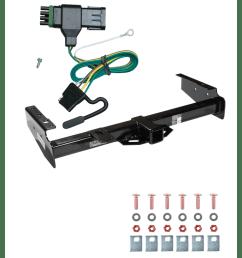 trailer tow hitch for 92 00 chevy gmc suburban c k blazer tahoe yukon w wiring harness kit [ 1000 x 1000 Pixel ]
