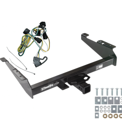 trailer tow hitch for 95 02 dodge ram 1500 2500 3500 w wiring harness kit [ 1000 x 1000 Pixel ]