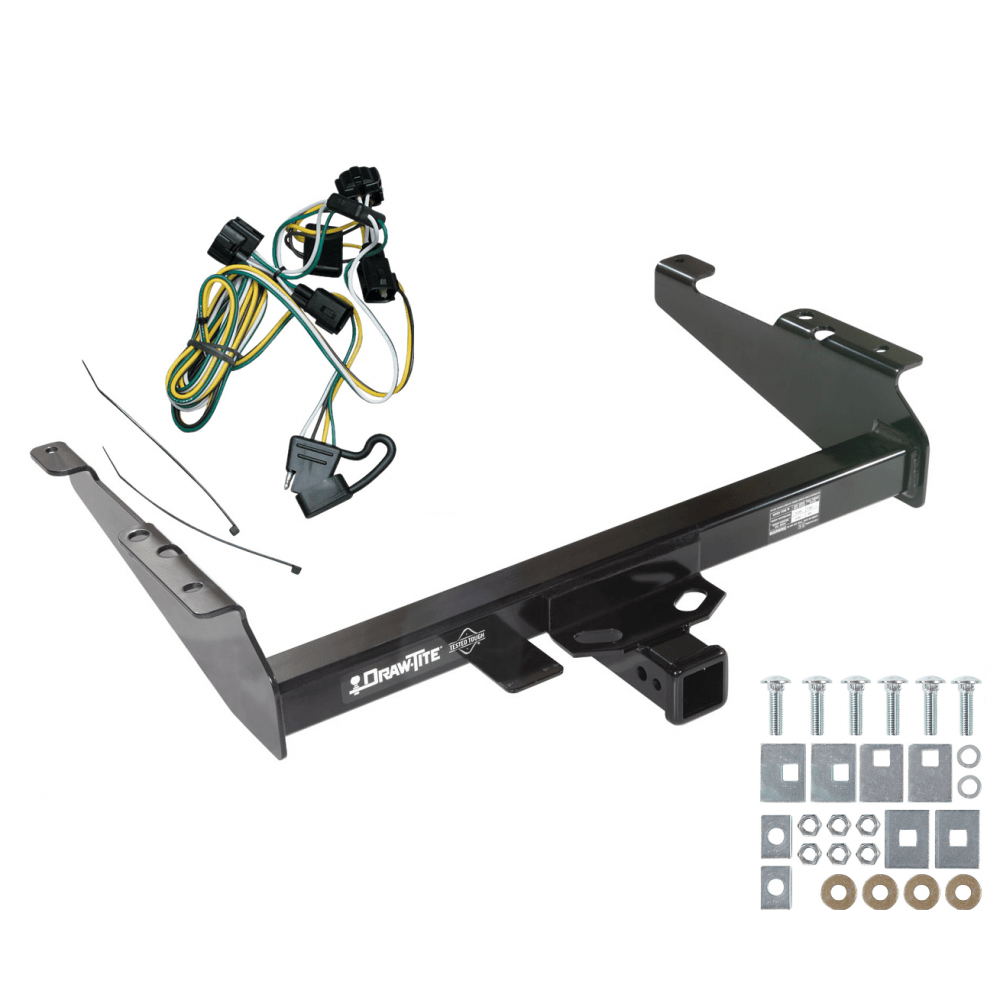hight resolution of trailer tow hitch for 95 02 dodge ram 1500 2500 3500 w wiring harness kit