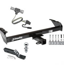 trailer tow hitch for 87 96 ford f150 f250 f350 97 heavy duty complete package w wiring  [ 1000 x 1000 Pixel ]