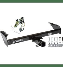 trailer tow hitch for 97 03 dodge dakota w wiring harness kit 97 dodge dakota trailer wiring [ 1000 x 1000 Pixel ]