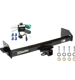 trailer tow hitch for 97 04 mitsubishi montero sport w wiring harness kit [ 1000 x 1000 Pixel ]