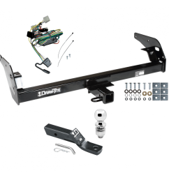 trailer tow hitch for 95 04 toyota tacoma complete package w wiring and 2 ball [ 1000 x 1000 Pixel ]