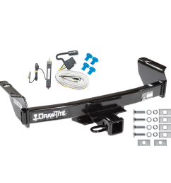 trailer tow hitch for 04 11 ford ranger w wiring harness kit [ 1000 x 1000 Pixel ]