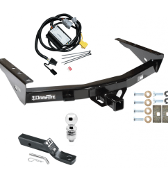 trailer tow hitch for 01 02 toyota tundra complete package w wiring and 2 ball [ 1000 x 1000 Pixel ]