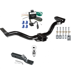 trailer tow hitch for 00 04 nissan xterra complete package w wiring and 2 ball [ 1000 x 1000 Pixel ]