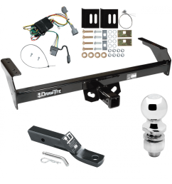 trailer tow hitch for 98 04 nissan frontier complete package w wiring and 2 ball [ 1000 x 1000 Pixel ]
