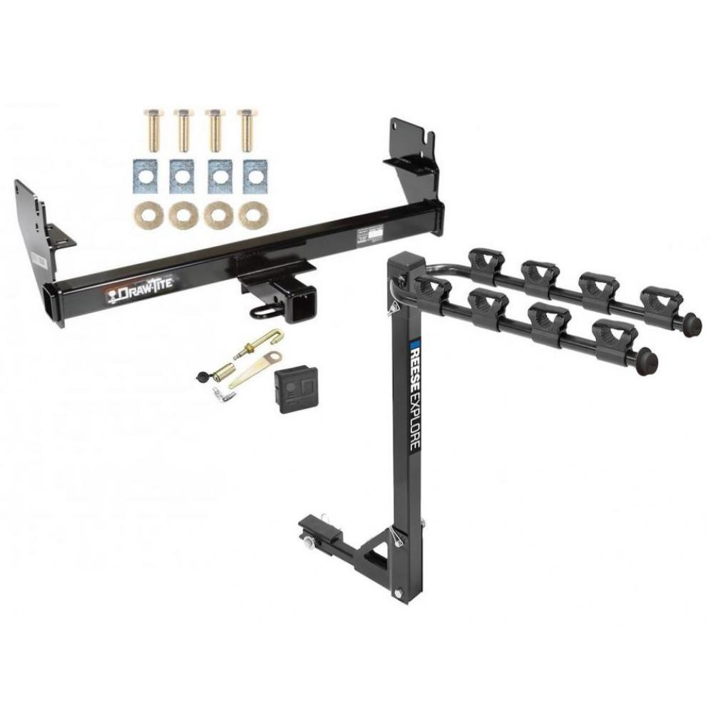 Trailer Tow Hitch w/ 4 Bike Rack For 05-15 Toyota Tacoma
