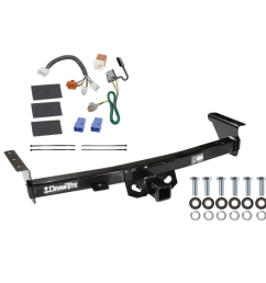 trailer hitch for 05 19 nissan frontier 09 12 suzuki equator tow receiver w wiring harness kit [ 1000 x 1000 Pixel ]