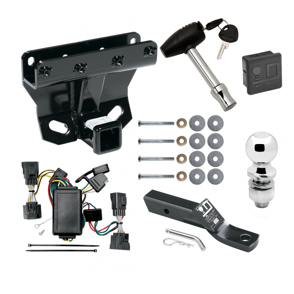 medium resolution of trailer tow hitch for 06 10 jeep commander deluxe package wiring 2 ball and lock