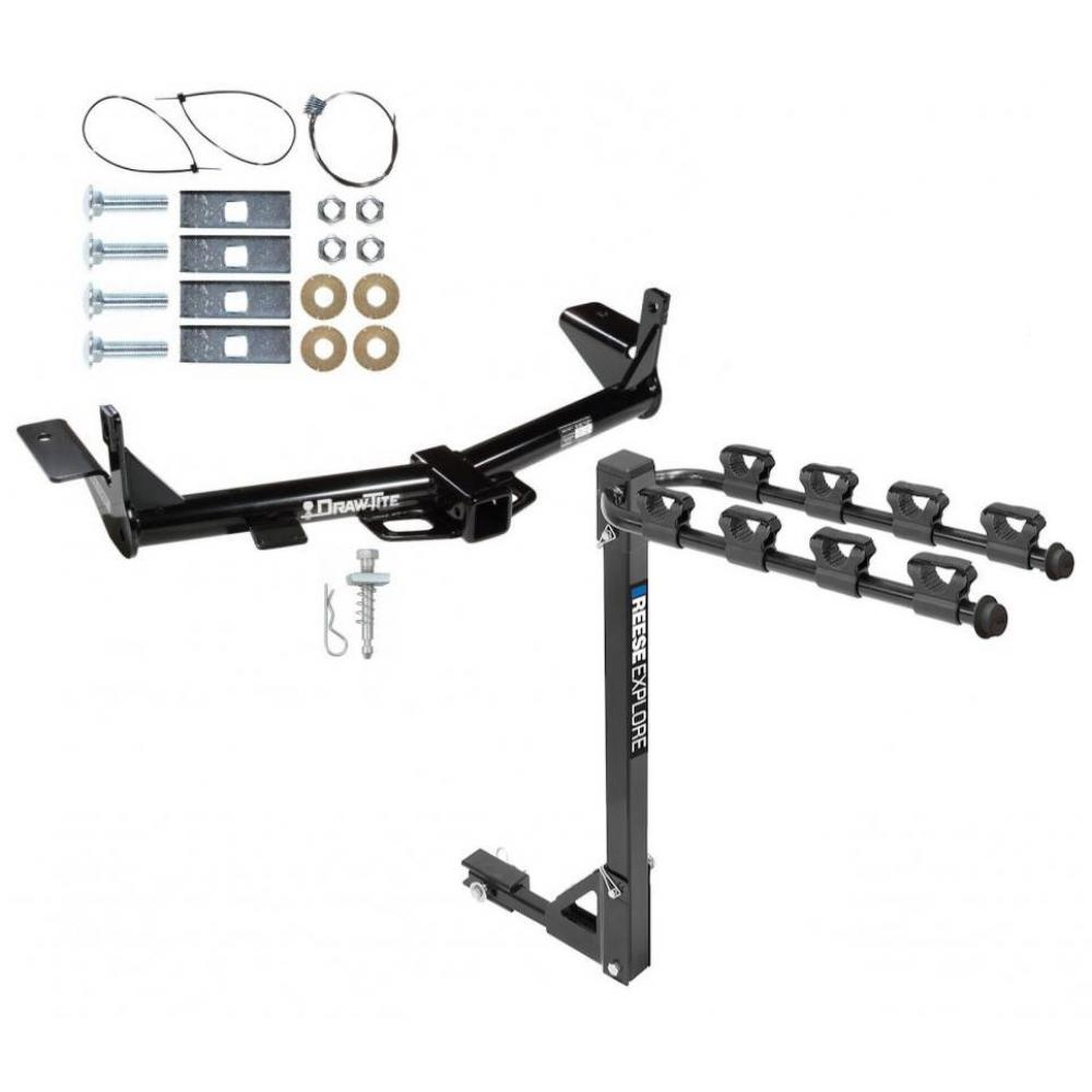Trailer Tow Hitch w/ 4 Bike Rack For 06-10 Ford Explorer