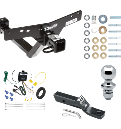 trailer tow hitch for 00 06 bmw x5 complete package w wiring and 1 7 8 ball [ 1000 x 1000 Pixel ]